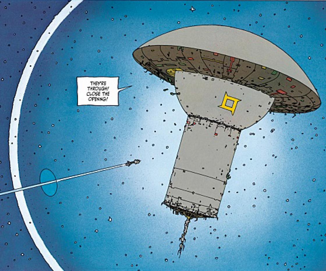 Moebius comic clip